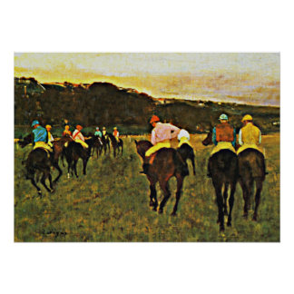 Degas - Races at Longchamp Poster