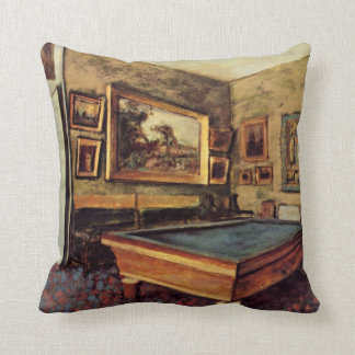 Degas - The Billiard Room Cushion