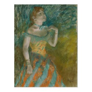 Degas - The Singer in Green - Pastel Postcard