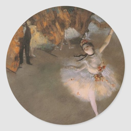 Degas The Star Round Sticker