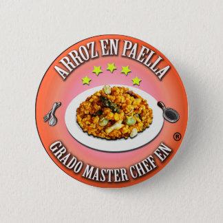 Degree Master Chef in Rice in Paella 6 Cm Round Badge