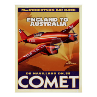 deHavelland DH88 Comet Air Racer Poster