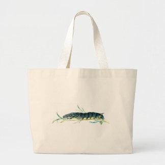 Deilephila elpenor caterpillar canvas bag