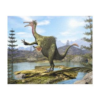 Deinocheirus dinosaur - 3D render Canvas Print
