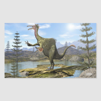 Deinocheirus dinosaur - 3D render Rectangular Sticker
