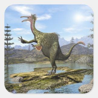 Deinocheirus dinosaur - 3D render Square Sticker