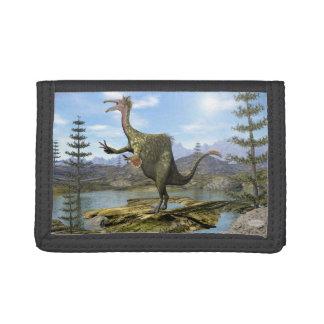 Deinocheirus dinosaur - 3D render Tri-fold Wallets