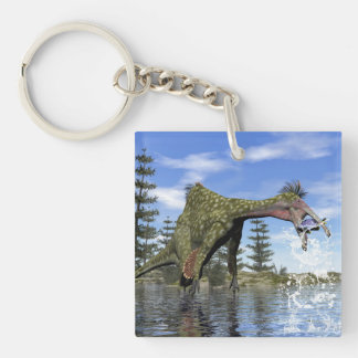 Deinocheirus dinosaur fishing - 3D render Key Ring