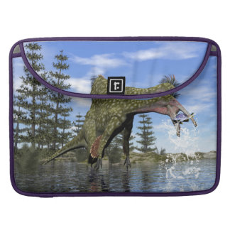 Deinocheirus dinosaur fishing - 3D render Sleeve For MacBook Pro