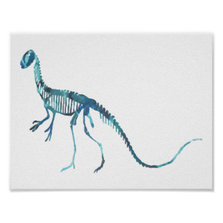 deinonychus skeleton poster