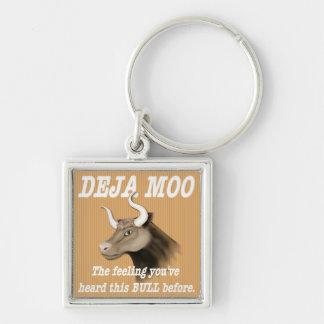Deja Moo Humor Keychain