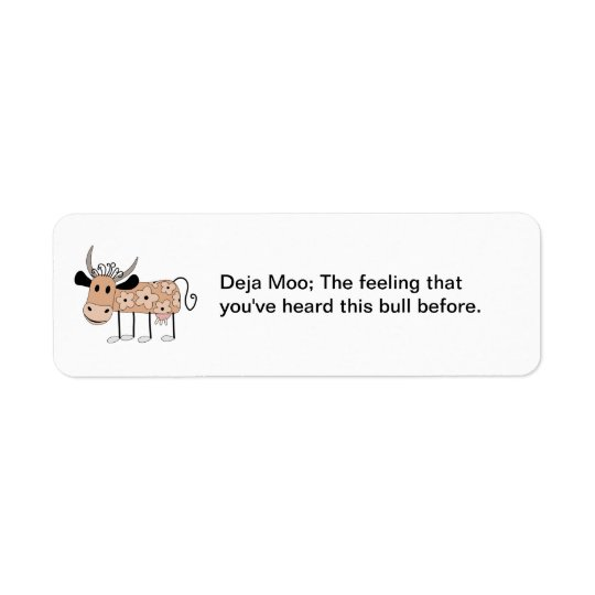 Deja Moo Return Address Label