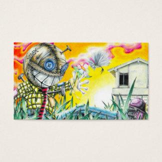 Deja Vudoo - Cute Colorful Pin Cushion Doll Art Business Card