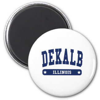 DeKalb Illinois College Style tee shirts 6 Cm Round Magnet
