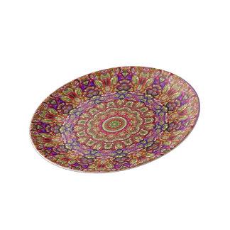 Deko plate Metallic Porcelain Plate