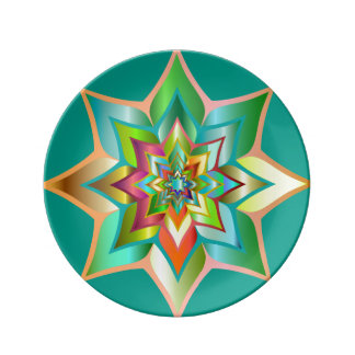 Deko plate star Mandala Porcelain Plates