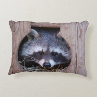 Dekokissen raccoon Racoon photo Jean Louis Glineur Decorative Cushion