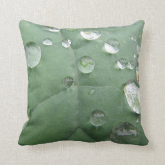 Dekokissen water drop on green-grey sheet cushion