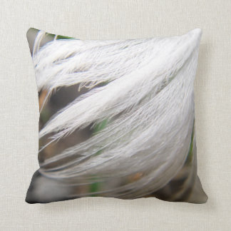 Dekokissen white swan feather cushion