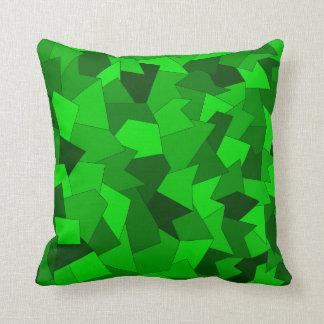 Dekokissen with abstract sample in green cushion