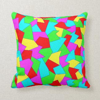 Dekokissen with multicolored abstract sample cushion