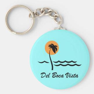 Del Boca Vista Basic Round Button Key Ring
