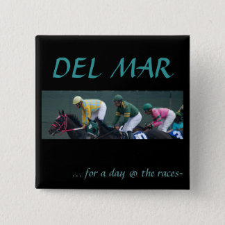 Del Mar, 15 Cm Square Badge