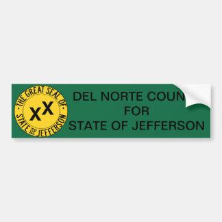 Del Norte County for State of Jefferson Sticker Bumper Sticker