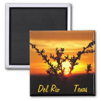 Del Rio Texas souvenirs desert brush sunset Magnet