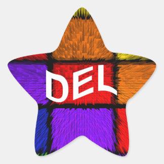 DEL STAR STICKER