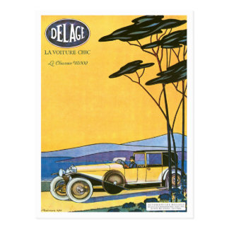 Delage ~ Vintage Automobile Advertisement Postcard
