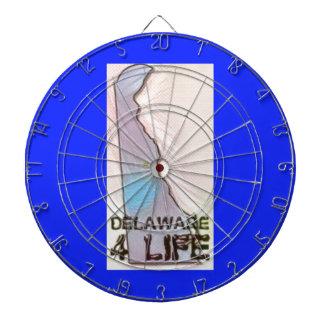 """""""Delaware 4 Life"""" State Map Pride Design Dartboard"""