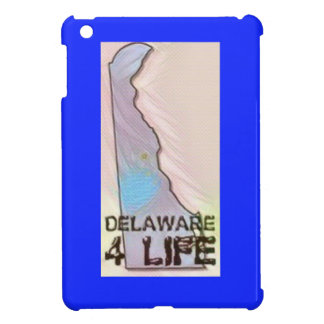"""Delaware 4 Life"" State Map Pride Design iPad Mini Cover"