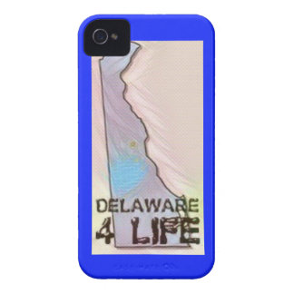 """Delaware 4 Life"" State Map Pride Design iPhone 4 Case-Mate Case"