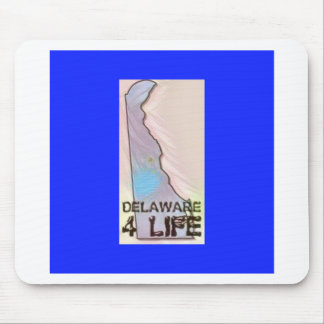 """""""Delaware 4 Life"""" State Map Pride Design Mouse Pad"""