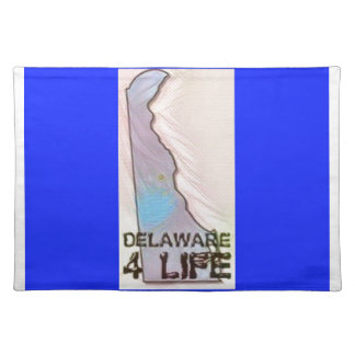 """Delaware 4 Life"" State Map Pride Design Placemat"