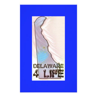 """Delaware 4 Life"" State Map Pride Design Stationery"