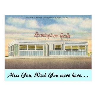 Delaware, Birmingham Grille Postcard