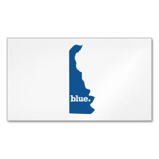 DELAWARE BLUE STATE MAGNETIC BUSINESS CARDS