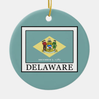 Delaware Ceramic Ornament