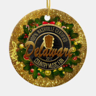 Delaware Country Music Fan Christmas Ornament