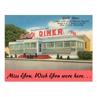 Delaware, Earl's Diner Postcard