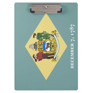 Delaware Flag Clipboard