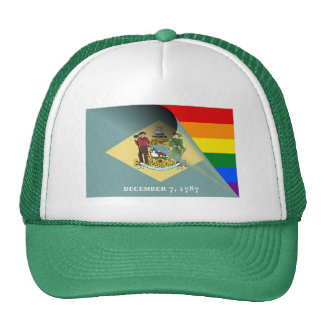Delaware Flag Gay Pride Rainbow Cap