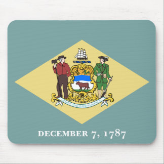 Delaware Flag Mouse Pad