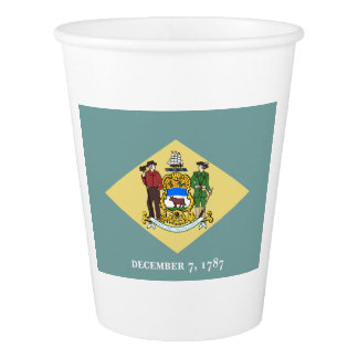 Delaware Flag Paper Cup