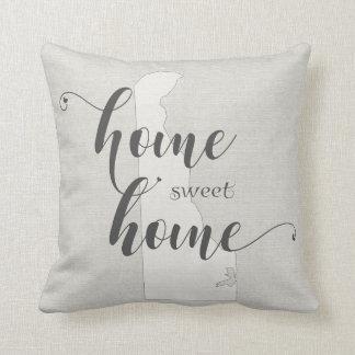 Delaware - Home Sweet Home burlap-look Cushion
