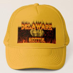 4e4e4ff72ad Delaware hottie fire and flames design. trucker hat