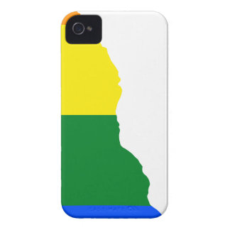 Delaware LGBT Flag Map iPhone 4 Case-Mate Case