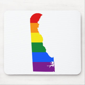 Delaware LGBT Flag Map Mouse Pad